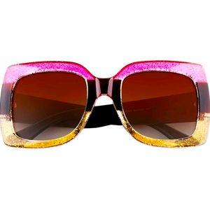 Square glitter Colorblock 😎 Sunglasses